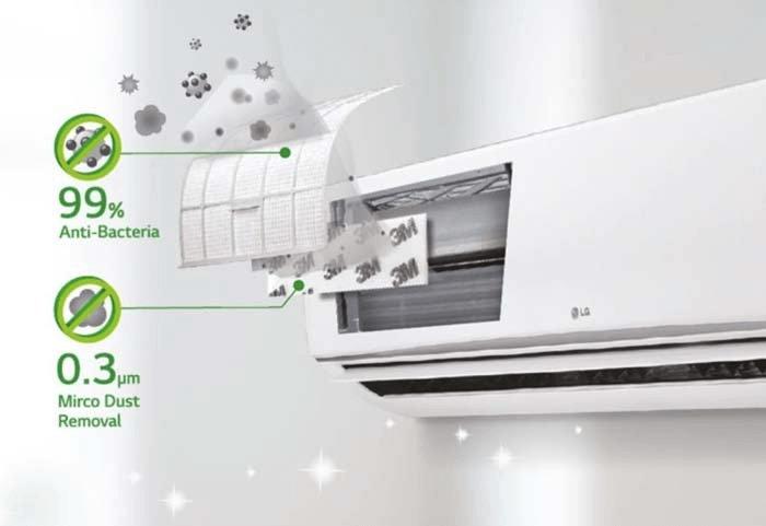 An air purifier kills bacteria