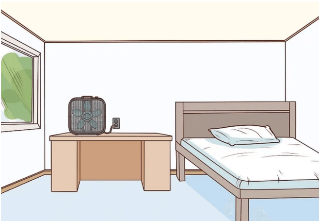 Put your DIY air purifier in an enclosed room