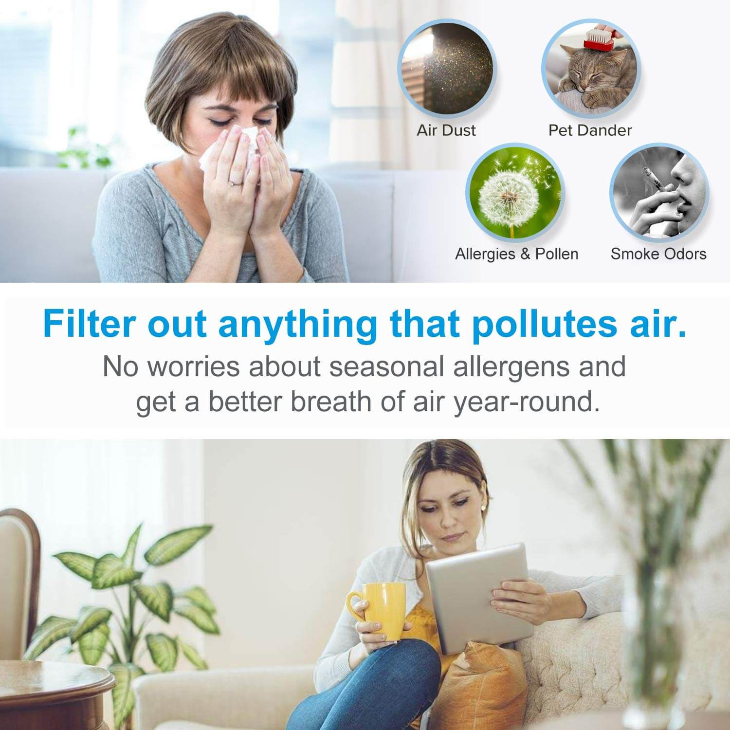 How an air purifier is working